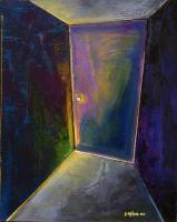 Room Paintings - Purple Door - Oil On Canvas