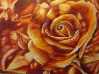 Flower Collection - 3D Rose - Oil On Canvas