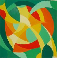 Abstract - Flor Del Sol - Gouache