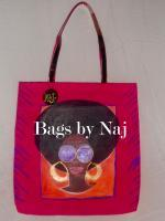 Hand Painted Bag - Acrylic Paintings - By Janice Frierson, Afrocentric Painting Artist