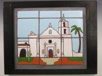 The Mission - Ceramics Wood Ceramics - By Stephen Hearne, Tile Murals Ceramic Artist