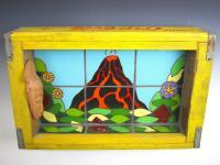 Pacifica Pottery - Volcano In The Clearing - Ceramics Coke Boxes Found Art