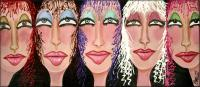 Glamour Girls - Add New Artwork Medium Paintings - By Peggy Garr, Facesportraits Painting Artist