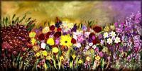 Add New Collection - Summer Garden - Oil  Acrylic On Canvas
