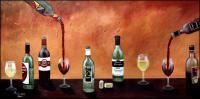 Wine - Wine Tasting - Oil  Acrylic On Canvas