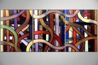 Modern Abstract Art - Amazing Maze By Peggy Garr - Oil  Acrylic On Canvas