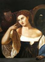 Old Masters - Titian - Woman In The Mirror - Oil