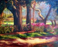Landscape - Lake Lilley Azaleas - Oil