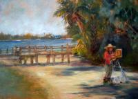 Landscape - Painting At Cedar Key - Oil