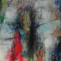 Untitled 3 - Mixed Media Paintings - By Richard And Kim Bouchard, Abstract Painting Artist
