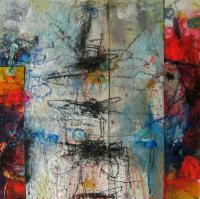 Untitled 4 - Mixed Media Paintings - By Richard And Kim Bouchard, Abstract Painting Artist