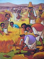 Harvest - Acrylics On Canvas Paintings - By Nebiyu Assefa, Traditional Painting Artist