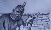 My Art - The Scorpion King - Graphite Pencil On Paper