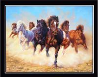 Horses - Canvas Paintings - By Ashish Vasani, Oil On Canvas Painting Artist