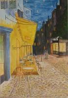 Impressionism - Impresion Of Van Gough Street Cafe - Water Colour