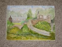 Landscapes - Trefen - Water Colour