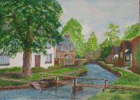Villages - Lower Slaughter - Water Colour