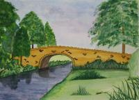 Landscapes - Measles Bridge - Water Colour