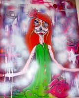 Street Art - The Dead Bride - Acrylicpaint Markers And Spray