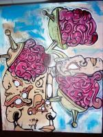 Street Art - Mind Invaderz - Acrylicpaint Markers And Spray