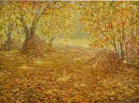 Impressionist Landscapes - Reminiscences About Autumn - Oil On Canvas