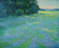 Impressionist Landscapes - Blue Morning - Oil On Canvas