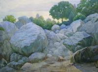 Impressionist Landscapes - Dusk At The Simeiz Mountains - Oil On Canvas
