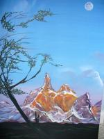 S Mountain - Acrylic Paintings - By Raza Mirza, Freestyle Painting Artist