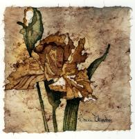 Batik - Golden Iris - Water Color And Wax