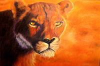Wildlife - Lion Up Close - Pastel