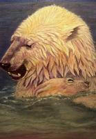 Wildlife - Polar Bear And Cub - Pastel