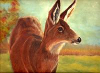 Deer - Doe In Fall - Pastel