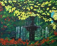 Openhearthgallery - I Come To The Garden Alone - Acrylic On Canvas