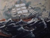Openhearthgallery - Back To The Ship - Acrylic On Canvas