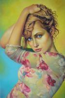 Anna - Oil Paintings - By Teimuraz Kharabadze, Expressionism Painting Artist