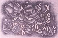 Fish Life - Pen Work Paintings - By Malatesh Garadimani, Abstrait Painting Artist