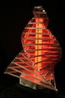 Wave-1 - Metal Glass Plexyrgb Led Sculptures - By Caspar Zax And Eugene Janson, Contemporary Modern Sculpture Artist