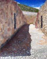 Landscapes - Afternoon Shadows Real De Catorce - Oil On Canvas