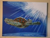 Under The Sea - Turtle - Acrylic