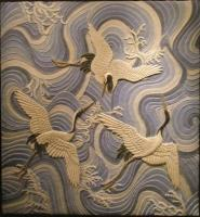Garzas Sobre El Mar - Mixta Sculptures - By Jos Manuel Solares, Relief Sculpture Artist