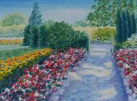 Miniatures - Point Defiance Park Walkway - Oil