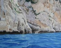 Italy - Stairway Near Blue Grotto Italy - Oil