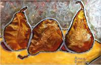 Still Life - Bosc Pears - Sold - Glass Paint
