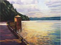 Northwest - Waters Edge Walkway To Owen Beach - Sold - Watercolor