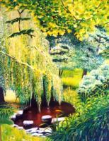 Oil Paintings - Ashton Gardens 2 - Oil On Canvas