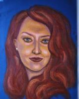 Chloe  Small - Oil Pastel Drawings - By Michael T, Expressionism Drawing Artist