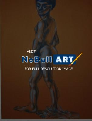 My Life - Male  Nude  Study - Oil Pastel