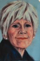 Wanda Russell - Pastel Drawings - By Michael T, Expressionism Drawing Artist