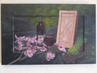 Stillife Painting - Holy Brick - Oil On Wood