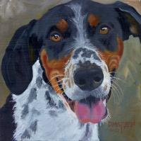 Dog Series - Dog 9 - Oil On Board